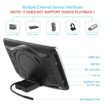 10.1 Inch Ultra-thin Car Headrest DVD Player 1024 * 600 With Remote Control Power-off Memory Function OSD Display