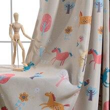 Новинки Topfinel шторы в детекую шторы для гостиной спальни дерево узор дизайн окна занавески в детскую прекрасные дети шторы