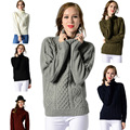 New Autumn Winter Women Sweater Pullovers Fashion Turtleneck Twisted Knitted Thickening Slim Basic Sweaters Tops H9