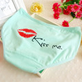 A31 fashion Women's Underwear Sexy Lip Kiss Me Intimates Cute Briefs Calcinha Women Comfortable Breathable Cotton Panties