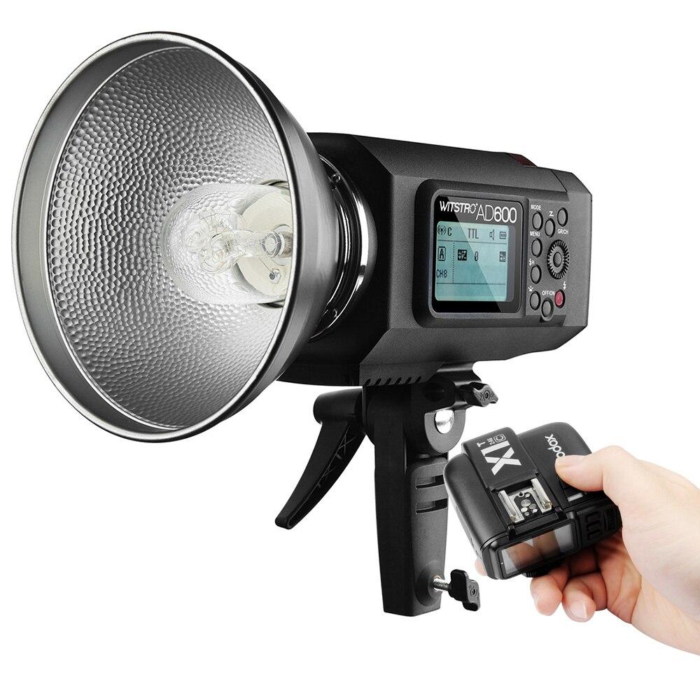 Godox AD600 TTL HSS 1/8000 s 600Ws 8700 мАч Батареи Строба Вспышки Света с 2.4 Г Х Система + X1T-C Godox Вспышка Триггера для Canon