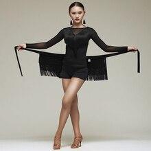 新ラテンダンススカート女性タッセルエプロン衣装トレーニングヒップスカーフチャチャサンバ腰タオルラテンアクセサリー DN1191