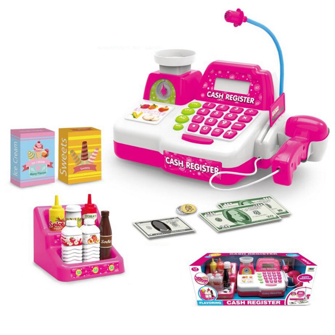 Emulational Plastic Cash Register Cashier Pretend & Play Children Early Development Educational Kid Toy цена