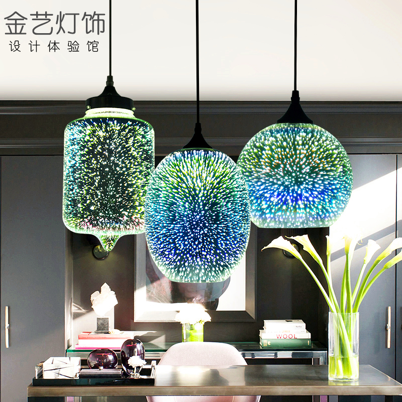 Image 4 - Modern Led Colorful Plated 3d Glass Pendant Light Mirror Glass Ball Lampshade For Restaurant Cafe Bar Dining Living Room Lamp-in Pendant Lights from Lights & Lighting
