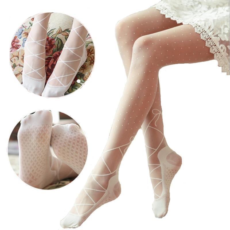 2015 Spring and Autumn New Lace Bow Stockings Women Lady Fashion Pantyhose Stripe Dot Nylon Tights Pantyhose Wholesale