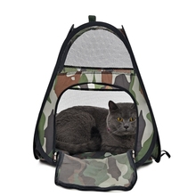 Pet Supplier Cat House Camouflage Pattern Pet Tent Breathable Leisure Style Foldable Bed Outside Funny For Kitten High Quality