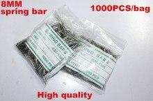 Comercio al por mayor 1000 Unids/bolsa Alta calidad herramientas y kits de reparación de relojes 8 MM barra del resorte de reparación de relojes-041291
