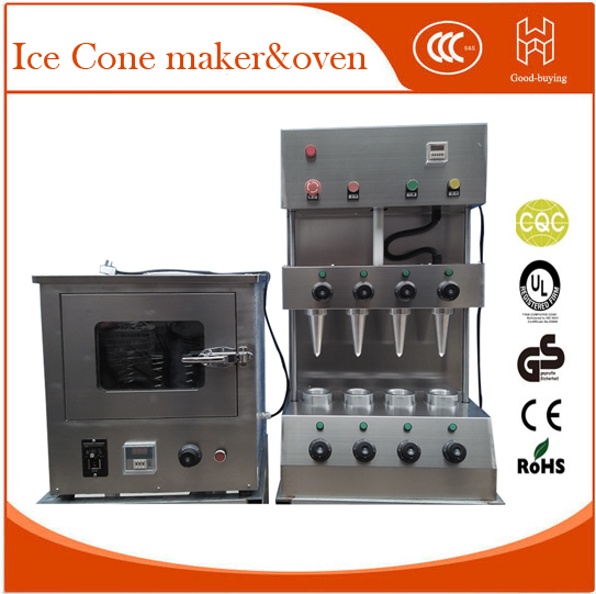 Commercial 4 Heads Cone maker Ice cream Cone machine 100pcs/h 220V 3.6KW Traffic Cones maker for ice cream shop