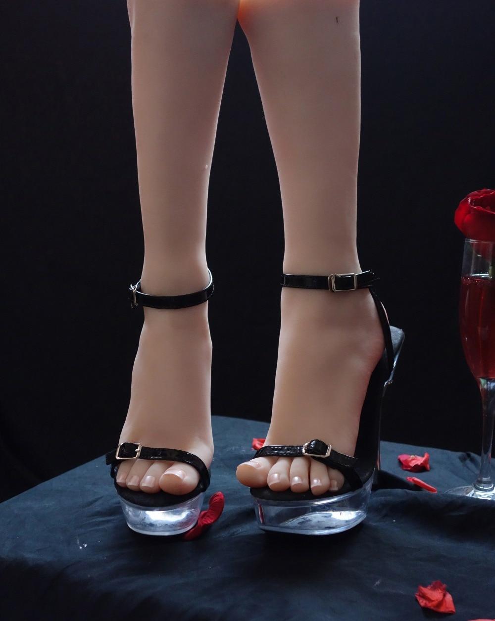 Free shipping 24cm Silicone Female Fake Foot Inner Bone Inside Feet Model Shoe Model