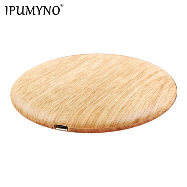 IPUMYNO Portable Qi Wireless Charger Charging Slim Wood For Apple iPhone 7 8 Plus X Smart Phone Wireless Charger For Samsung S7
