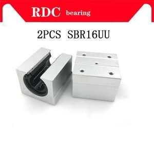 2pcs SBR16UU aluminum block 16