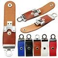 Boa qualidade por atacado Tigre botão de couro da corrente chave USB Flash 64 GB 32 GB 16 GB 8 GB Pen drive USB flash drive de memória vara