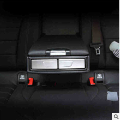 Car rear armrest box cup holder panel cover sequin sticker for Mercedes Benz C class W205 GLC X253 GLA X156
