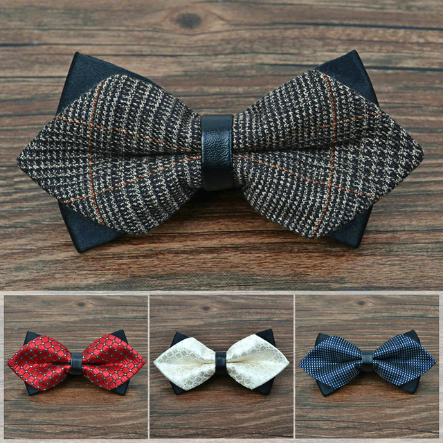 new 2017 fashion bow ties for men wedding groom butterfly tie mens business bowtie birthday valentines