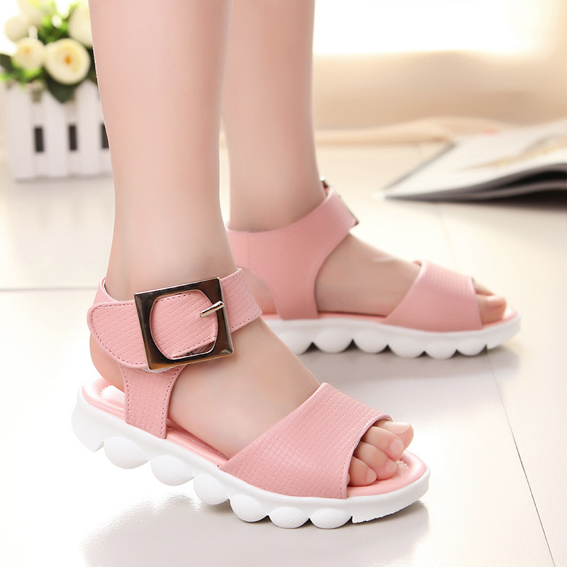 Girls Gladiator Sandals Soft Leather Kids Girl 2017 New Baby Moccasins Wedding Shoes - Lissc Store store