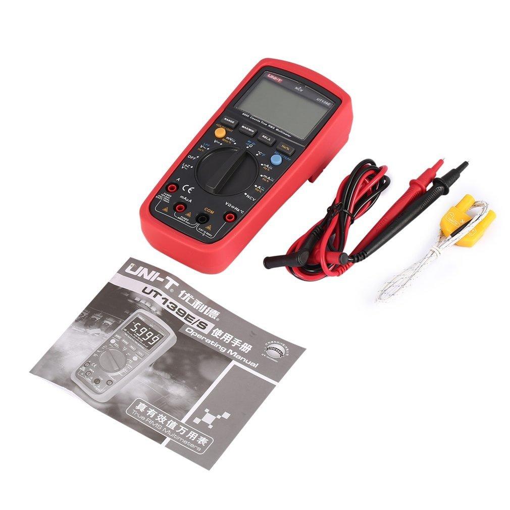 UNI T UT139E TRMS Digital Multimeter 6000 Count DMM AC DC Multi meter Analog bar graph LPF LoZ NCV Temperature capacitor Tester стоимость