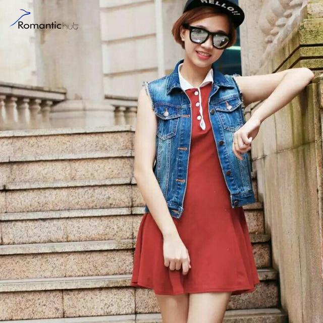 Women Denim Vest 2017 Spring Summer Style Cardigan Lady Denim Jean Vests Coats Plus Size Tops High Quality Vest Jacket Short