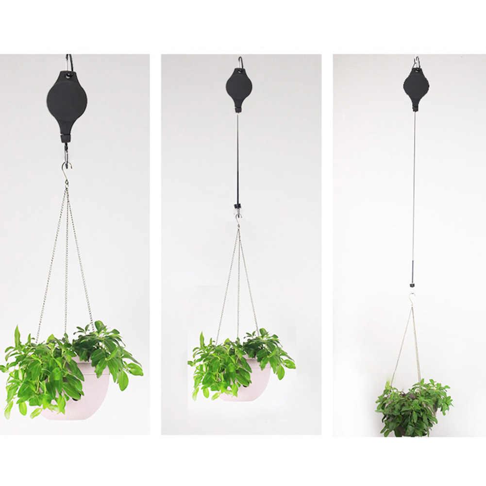 1 par Polia Retrátil Cesta de Flores Pendurados Gancho Puxar Para Baixo o Gancho para o Jardim pode CSV