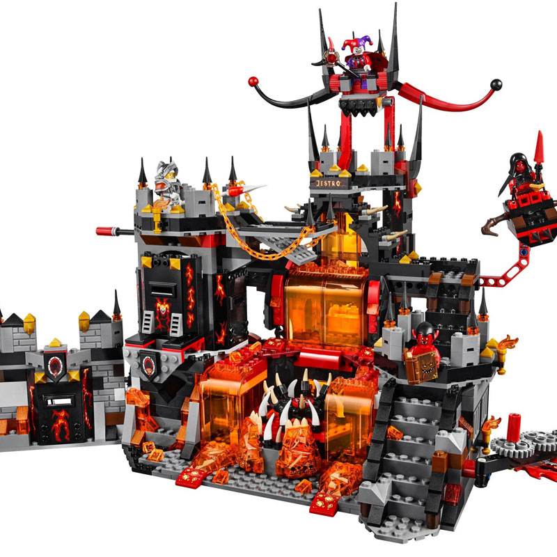 Model building kits 14019 Nexoe Knights Volcano Lair castle compatible with lego city 3D blocks Educational toys for Kids gift children deformation car airplane educational building toys blocks for kids gift compatible with lego new in box