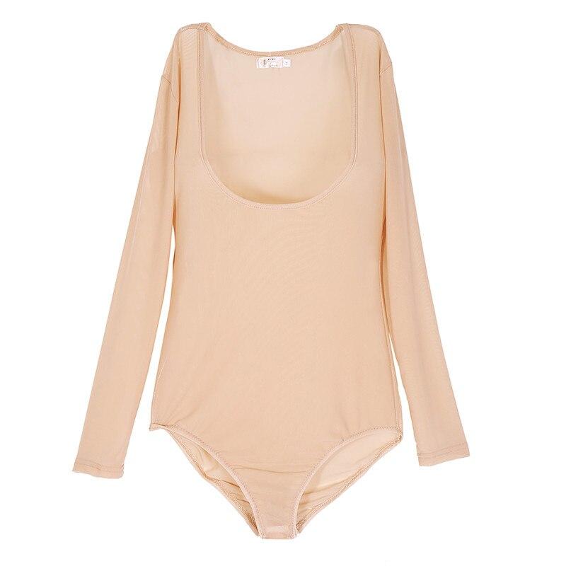Plus Size One Piece Dancewear Long Sleeves Bellydace Accessories Women Bodysuit  Bottoming Shirt Belly Dance Tops