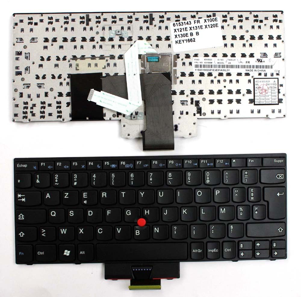New Laptop keyboard for Lenovo Thinkpad X120e  FR  french  layout new original authentic for lenovo for lenovo for thinkpad e14 e15 e40 e50 laptop keyboard