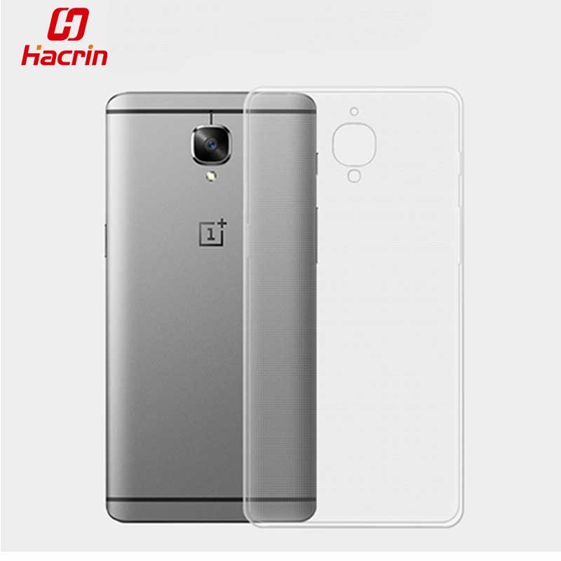 hacrin Oneplus 3T Case Soft Clear TPU Ultra Thin Silicone Protective Back Cover For One Plus Three A3000 OnePlus 3 T Phone