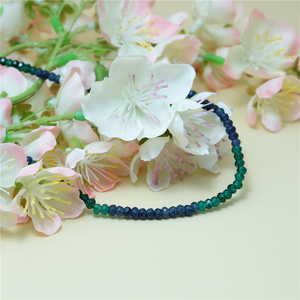 Image 4 - Vintage Classic Natural Stone Jewelry Delicate Sapphires Emeralds Multicolors Beaded Chain Choker Necklace