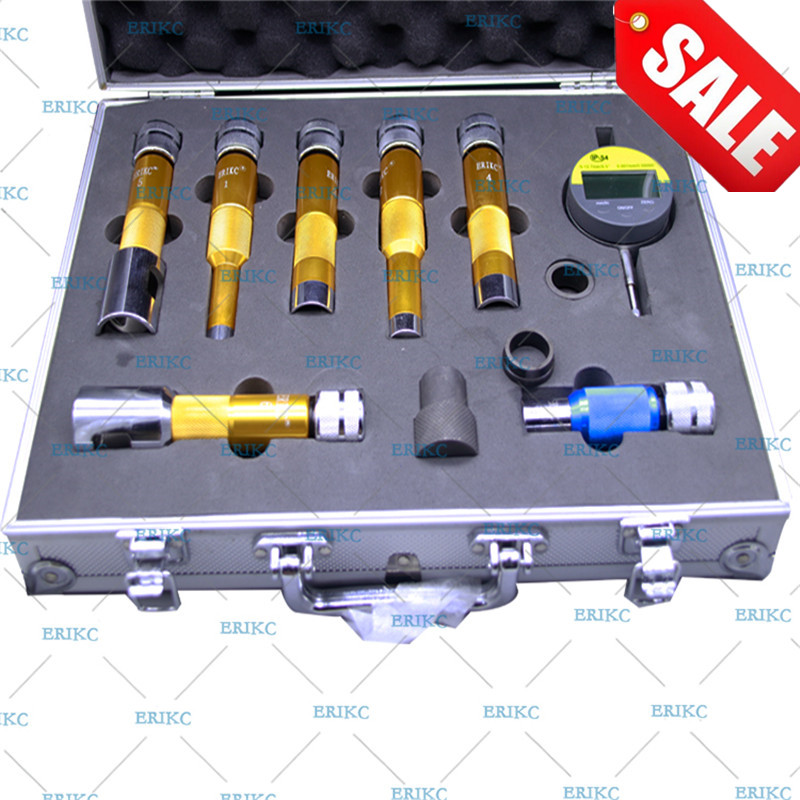 ERIKC Injector Shims Lift Measuring Instrument E1024007 Common Rail Injector Nozzle Washer Space Testing Tools Sets