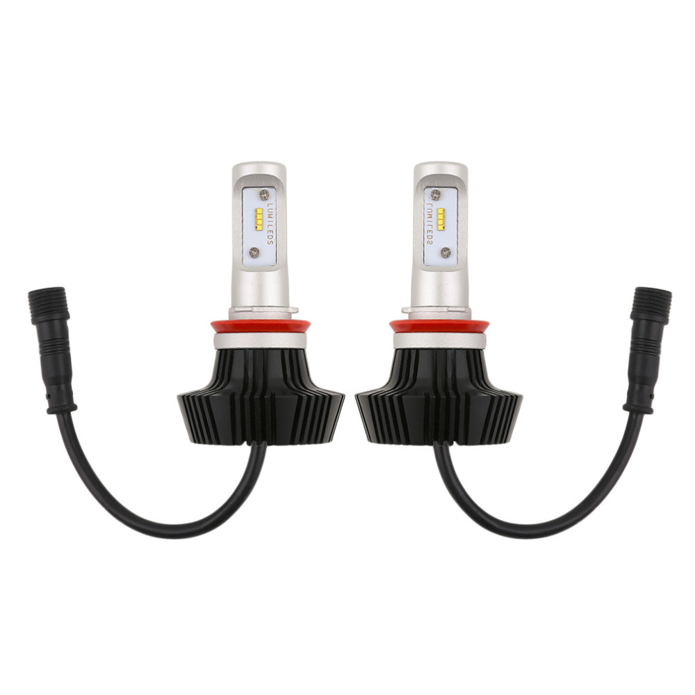 1Pair C8 H8 Car LED Headlamp Bulb Head lights Replace Xenon Headlights 8000lm 9V-36V 80W 6000K White LED Light