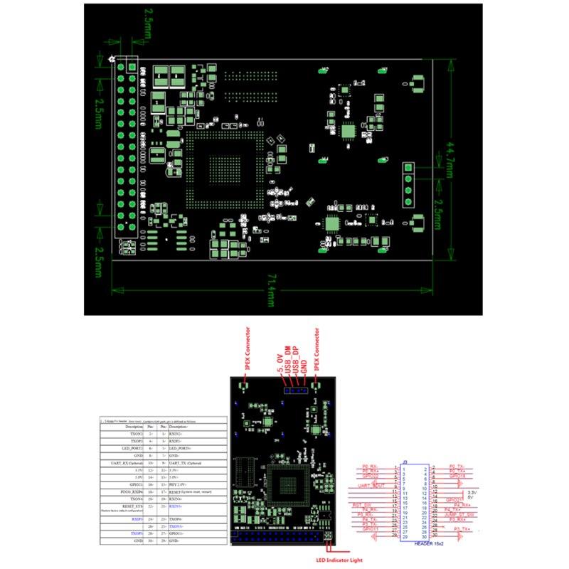 Image 5 - Мини тип беспроводной маршрутизатор двухдиапазонный 5,8G 2,4G маршрутизатор wifi модуль openwrt ar9344 atheros беспроводной модуль wifi основной модуль-in Беспроводные маршрутизаторы from Компьютер и офис