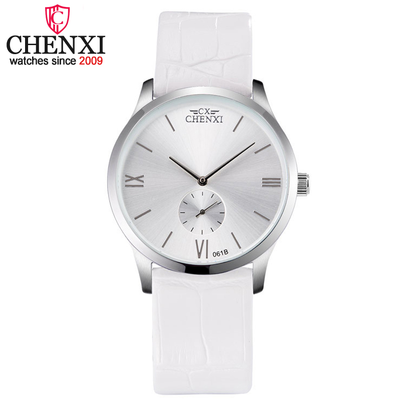 CHENXI Brand Fashion Simple Leather Women Quartz Wristwatch Small Dial Design Gift Clock Female Watches Gold&Silver Ladies Watch elegant design bling diamond sands dial women watches fashion female dress watch rebirth luxury brand leather quartz clock gifts