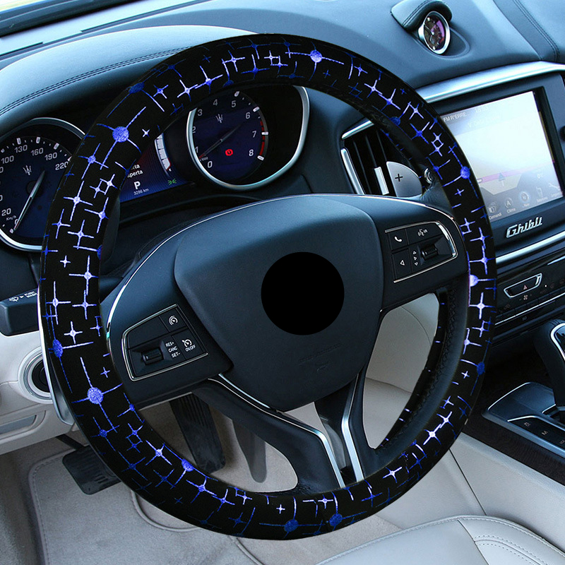 Decoration Car Steering Wheel Cover For Women Car Accessories Steering Wheel Cover                       Funda Volante Universal(China)