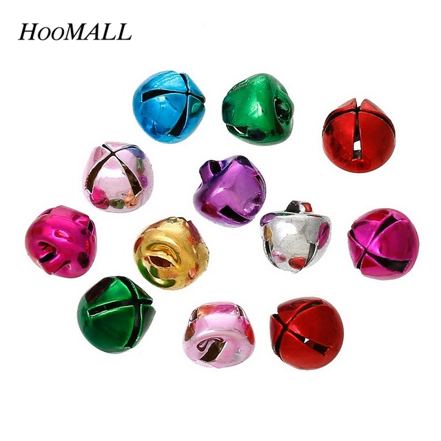 Christmas Decorations Bells Endearing Hoomall 100Pcs Colored Mixed Bells Pendants Hanging Christmas Tree Design Inspiration