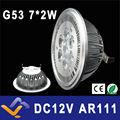 G53 AR111 QR111 ES111 CONDUZIU a lâmpada 14 W Holofotes Branco Quente/Natureza Branco/Branco Fresco Entrada DC 12 V