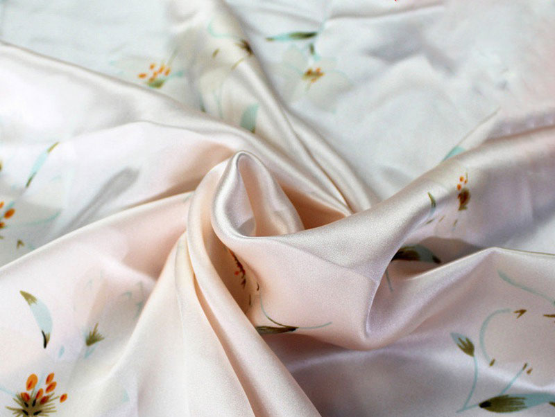 Silk fabric silk satin clothing quilt cover pillowcase fabric foundation lily 16mm image