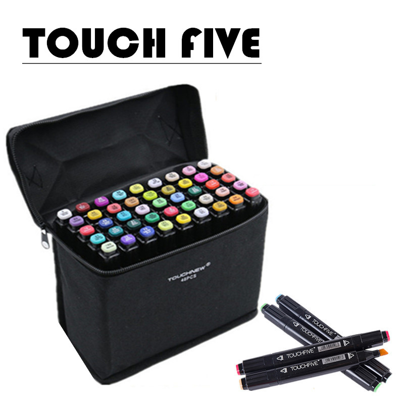 Touchfive 30/40/60/80/168Colors Art Markers Set Alcohol Oily Base Sketch Markers Pen For used for drawing and/or coloring touchnew 60 colors artist dual head sketch markers for manga marker school drawing marker pen design supplies 5type