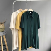 Chiffon Blouse Short Sleeve Casual 2018 Spring Summer Shirts Women Tops Loose Women S Blouses Solid