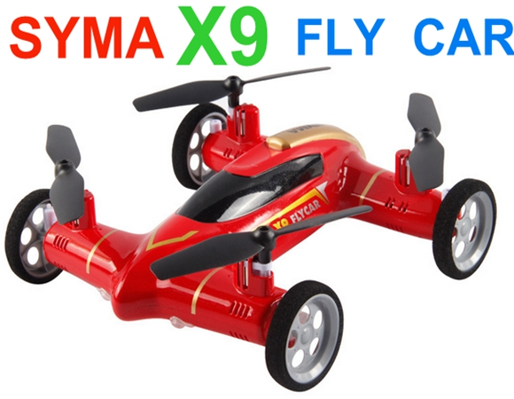 Sep Sale Promotion Syma X9 Fly Car 2.4G 4CH Remote Control RC Quadcopter Helicopter Drone - Land & Sky 2 Function mini drone rc helicopter quadrocopter headless model drons remote control toys for kids dron copter vs jjrc h36 rc drone hobbies