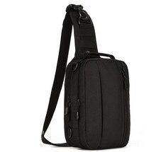 Multifunción mochila de camuflaje táctico al aire libre militar de nylon impermeable bolsas pecho grande Sling bolso