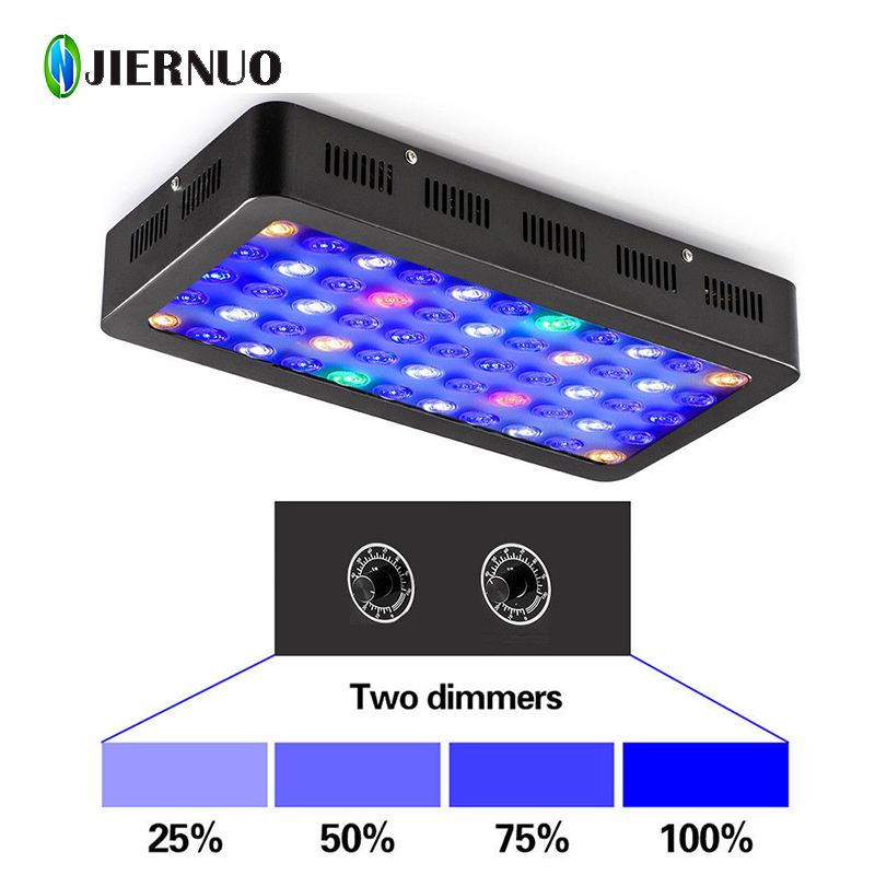 LED Grow Light Dimmable 165W LED Aquarium Light Full Spectrum for Fish Tank Reef Marine Coral Lamp Blue Red Green Warm white