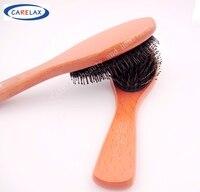 מותג חדש באיכות גבוהה ידית עץ טבעי חזיר זיפי מברשת שיער מסרק רך שיער בארבר כלי