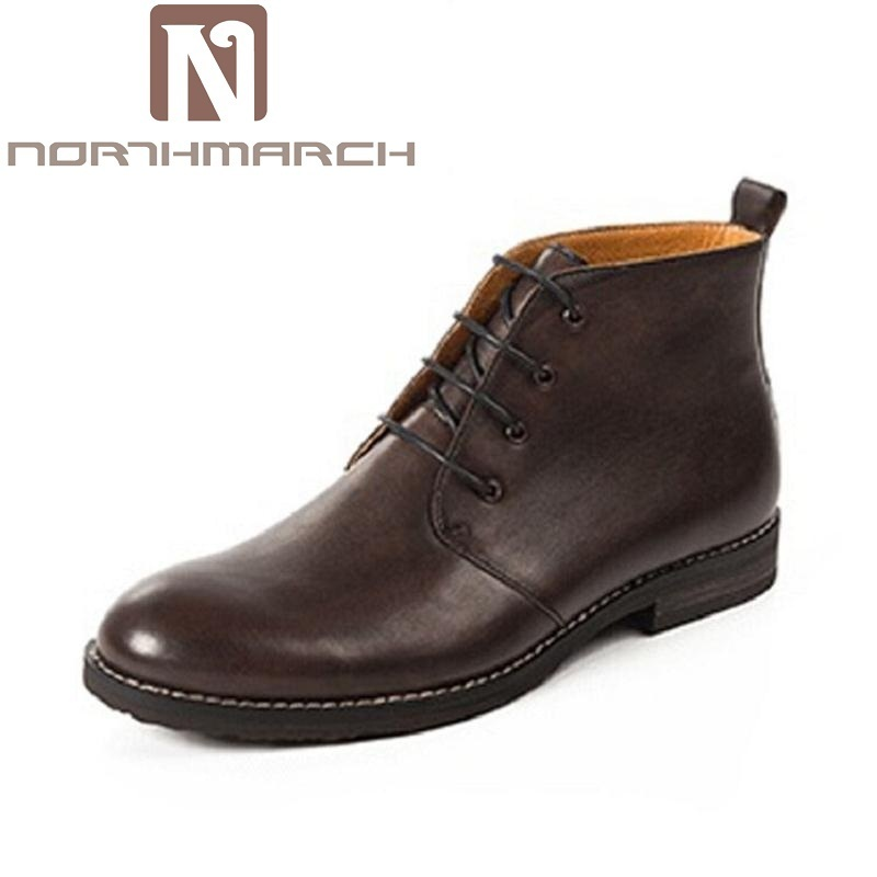 NORTHMARCH Brand New Arrival Classic Men Boots high-top Printing Men Ankle Boots Lace-Up Casual Men Autumn Shoes boots homme