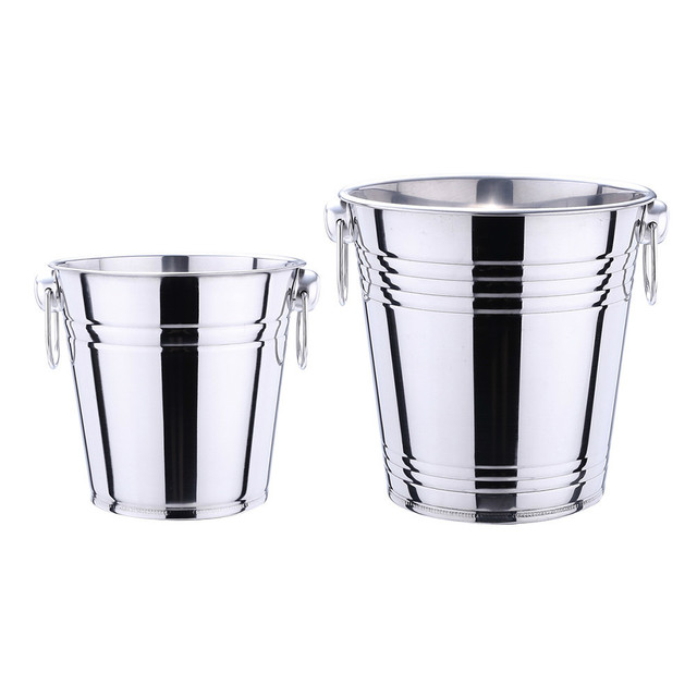 Stainless Steel Bucket for Ice and Alcohol Cooling