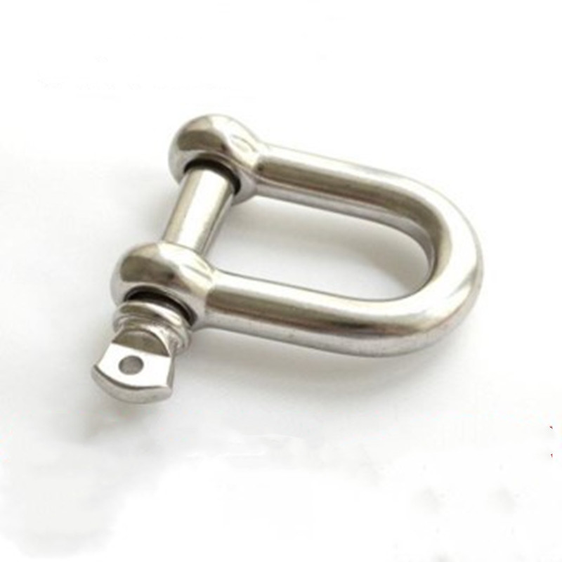Silver 304 Stainless Steel M6 Screw Pin Lifting Shackle D-Ring Set of 10