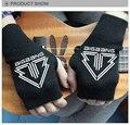 Exo KPOP ventas bellas Mitt dedo expuesta ' s otoño invierno de punto para mujeres guantes sin dedos mitones muñeca bts k-pop