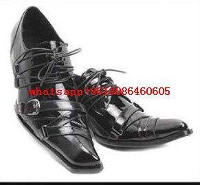 Sapatos Balck Zapatos Italiano Quadrado Couro Mens De Do Homens Hombre Luxo as Para Up Picture Oxford Picture Alto Choudory Pé Lace As Dedo Loafers Salto Os qXwx5zda