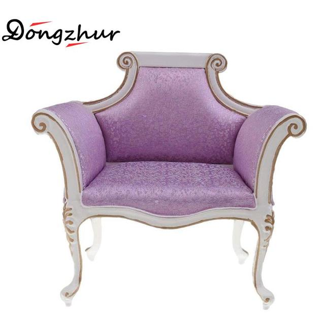 Purple Miniature Armchair Wood Wooden Satin Furniture Sofa Accessories For 16 Doll House DIY  sc 1 st  AliExpress.com & Purple Miniature Armchair Wood Wooden Satin Furniture Sofa ...