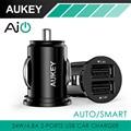 Aukey carregador de carro 5 v/2.4a porta 2 carregador de carro adaptador de carregador usb para iphone6, 6 s plus, ipad, htc one, galaxys6, s6 borda nota 5, lg