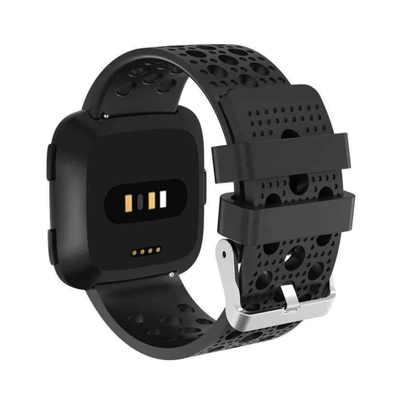 2018 New Soft Silicone Smart Watch Replacement Sport Perforated Band Watch Strap For Fitbit Versa