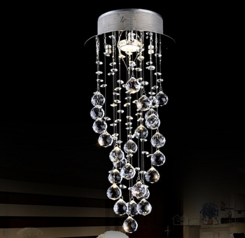 Crystal Modern Lamps For Living Room Long Chandelier Led Rotating Staircase Bedroom  Lamp Lighting Ceiling Lights Home Fixtures